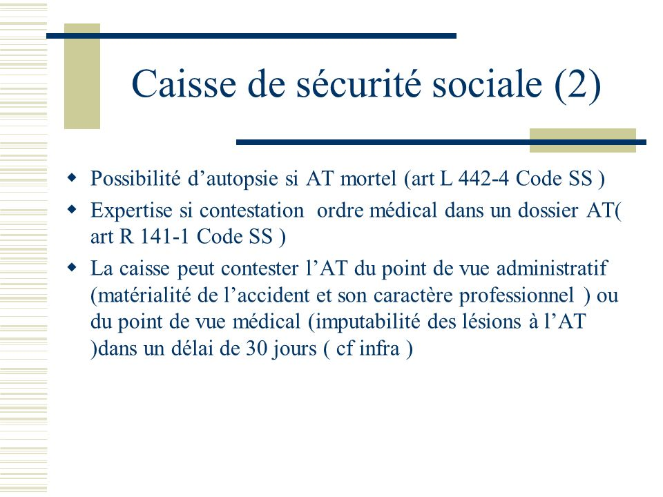 Caisse de sécurité sociale (2)