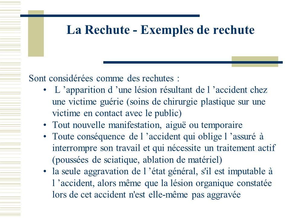 La Rechute - Exemples de rechute