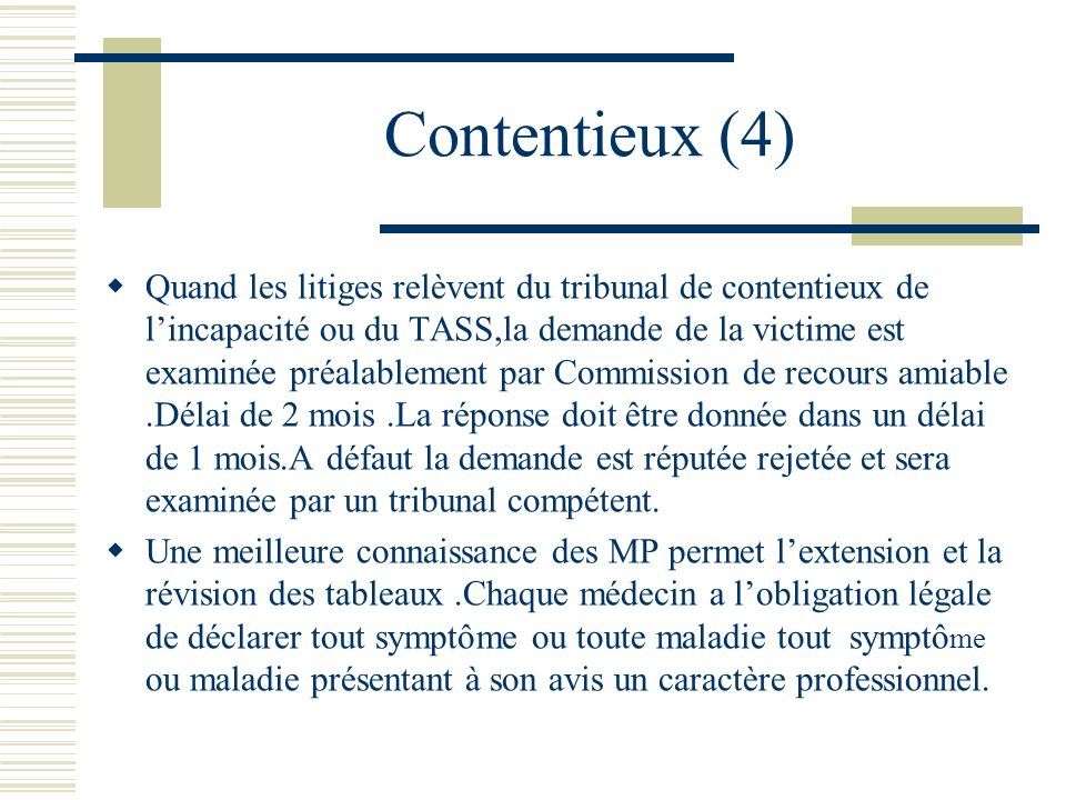 Contentieux (4)