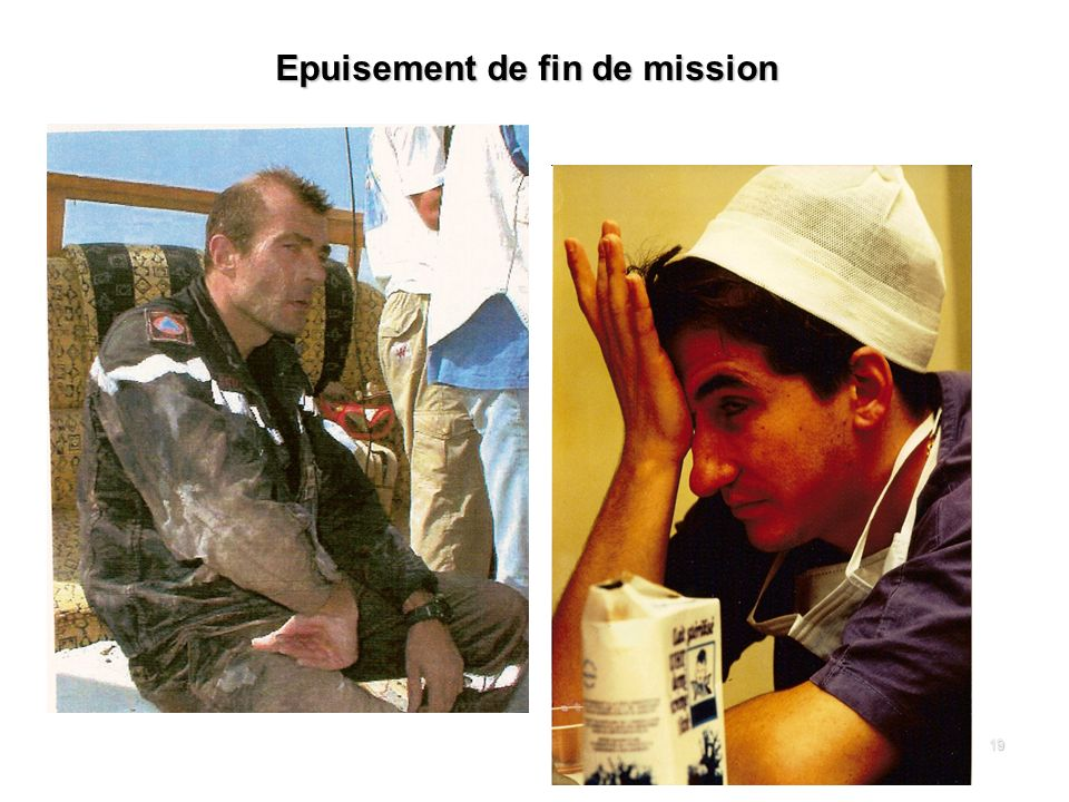 Epuisement de fin de mission