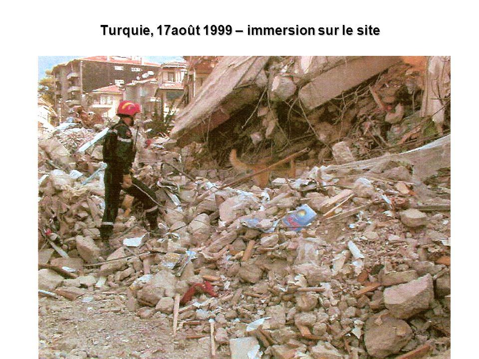 Turquie, 17août 1999 – immersion sur le site