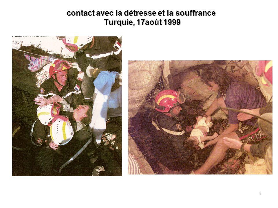 contact avec la détresse et la souffrance Turquie, 17août 1999