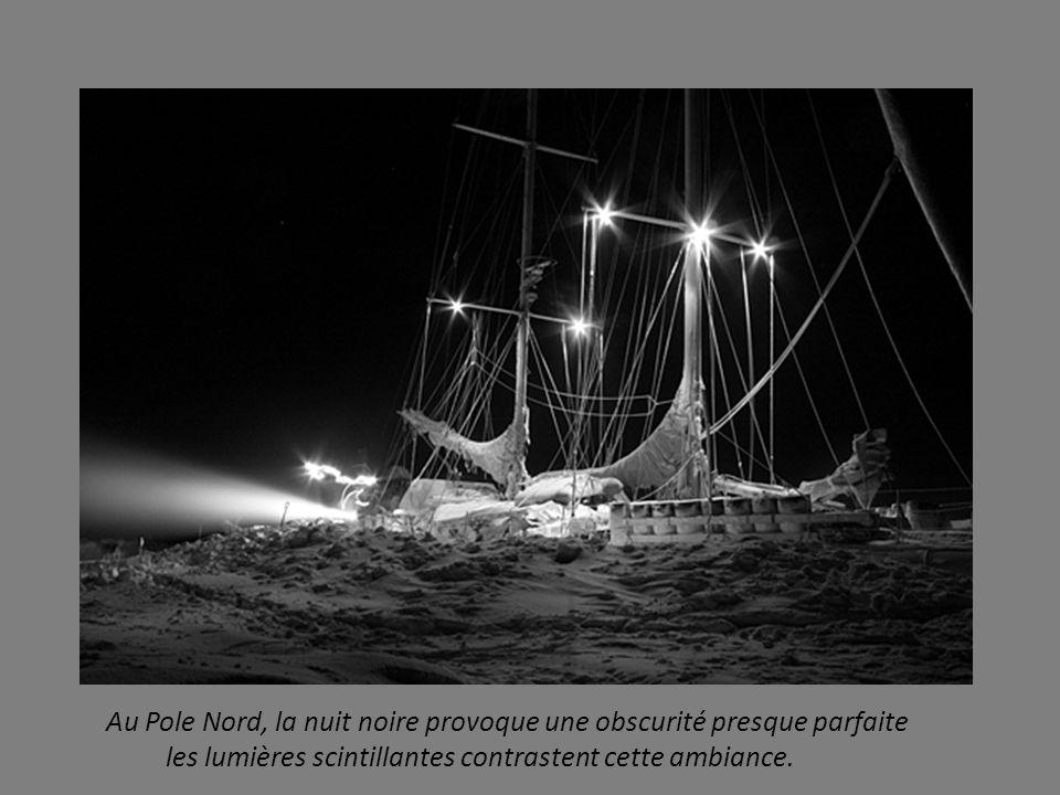 Au Pole Nord, la nuit noire provoque une obscurité presque parfaite