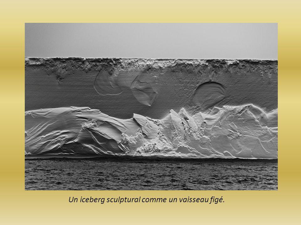 Un iceberg sculptural comme un vaisseau figé.