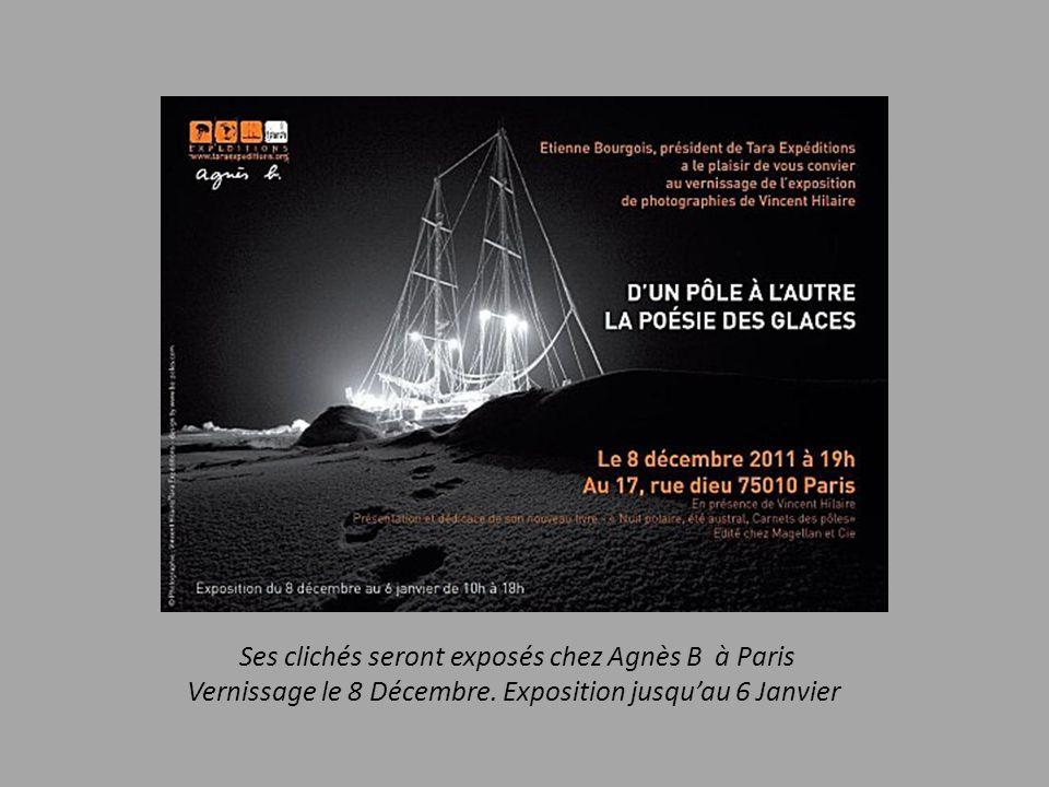 Ses clichés seront exposés chez Agnès B à Paris