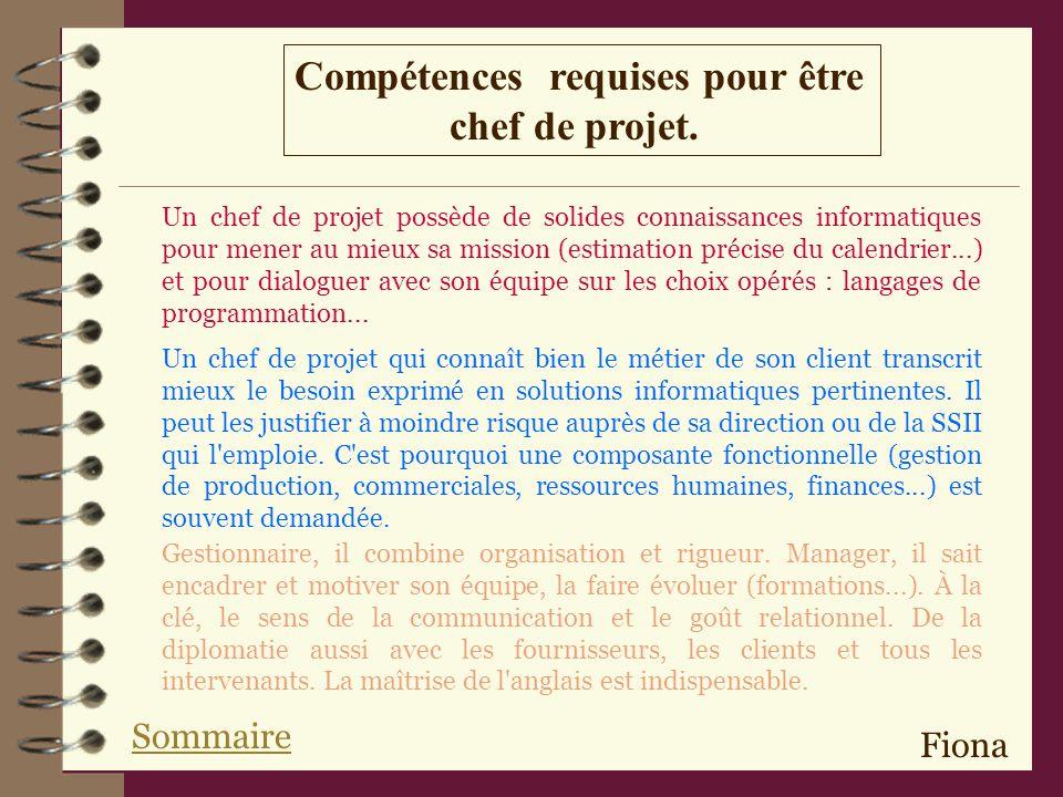Compétences requises pour être chef de projet.