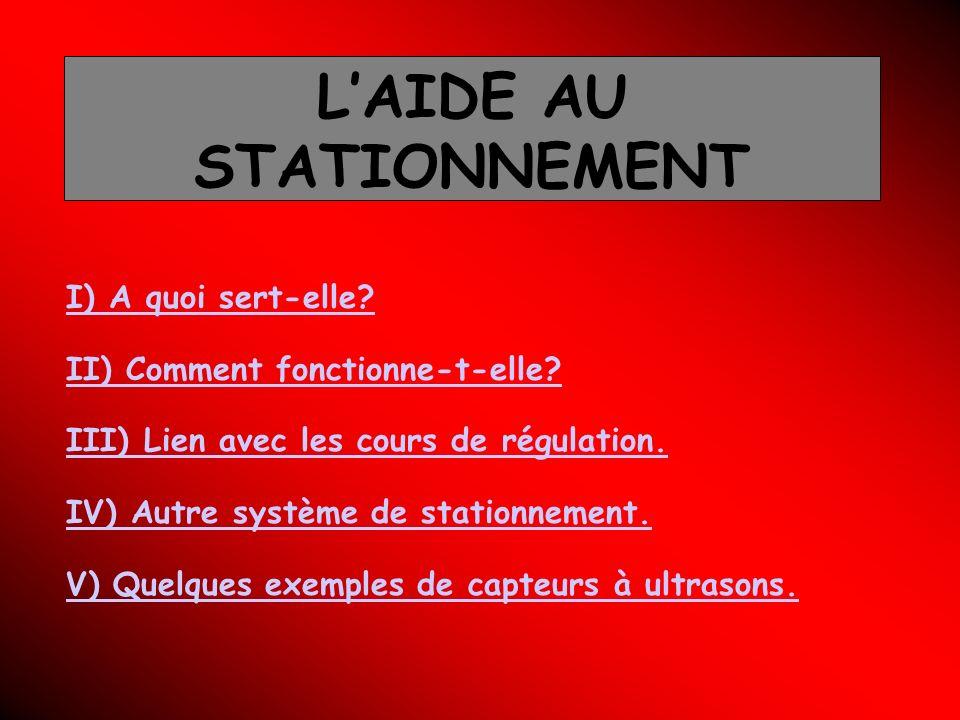 L'AIDE AU STATIONNEMENT