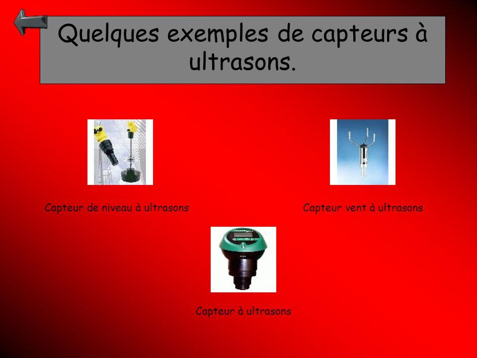 Quelques exemples de capteurs à ultrasons.