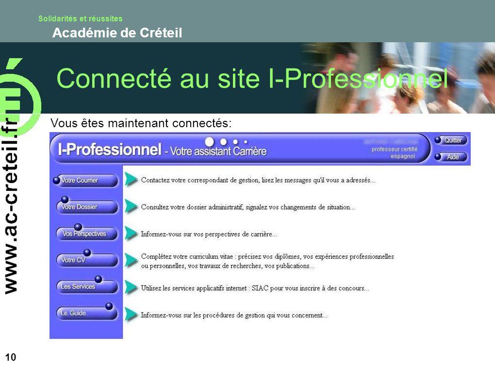 Connecté au site I-Professionnel