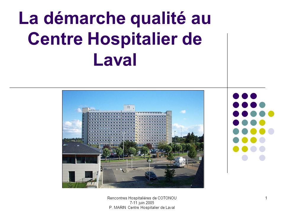 La démarche qualité au Centre Hospitalier de Laval