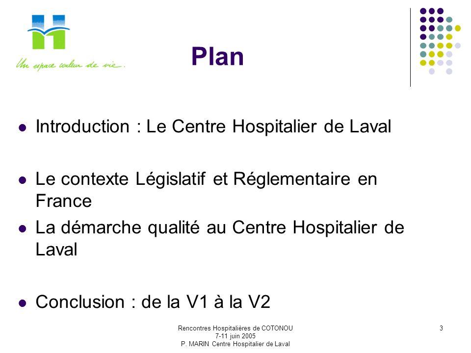 Plan Introduction : Le Centre Hospitalier de Laval