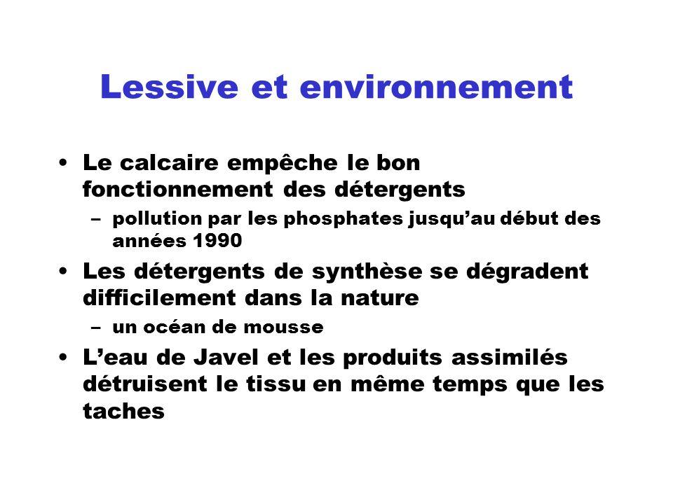 Lessive et environnement