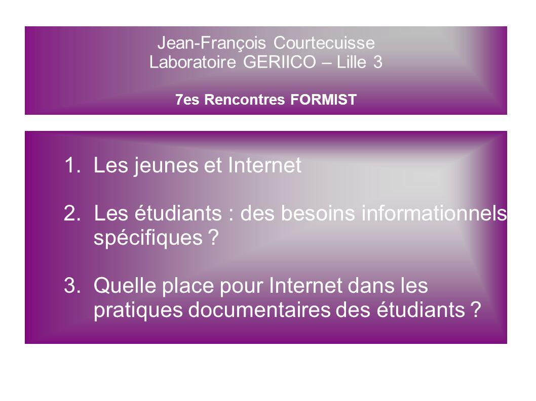 Internet au coeur des pratiques documentaires des étudiants