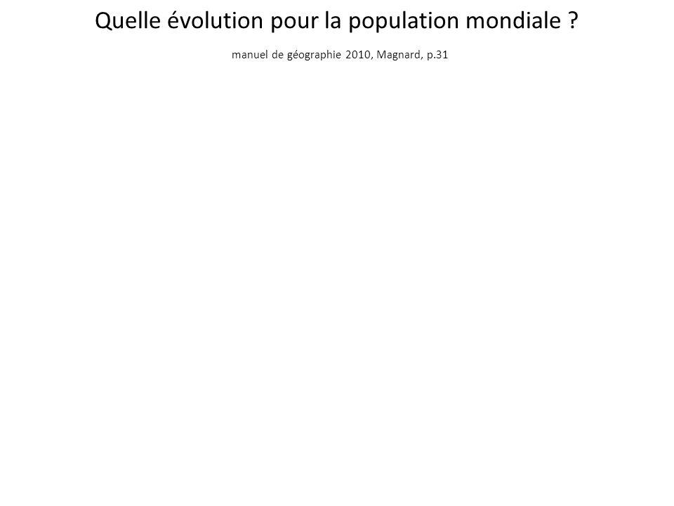 Quelle évolution pour la population mondiale
