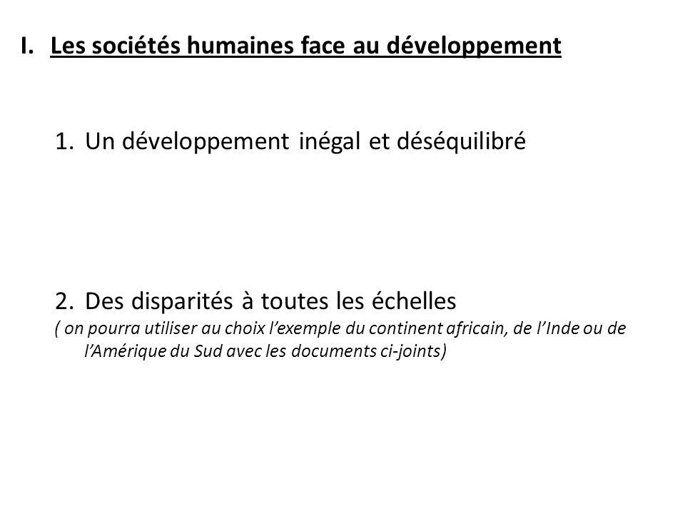 Les sociétés humaines face au développement