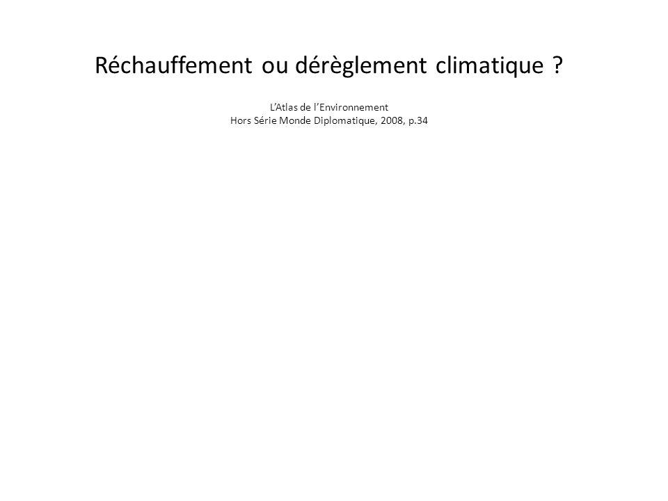 Réchauffement ou dérèglement climatique