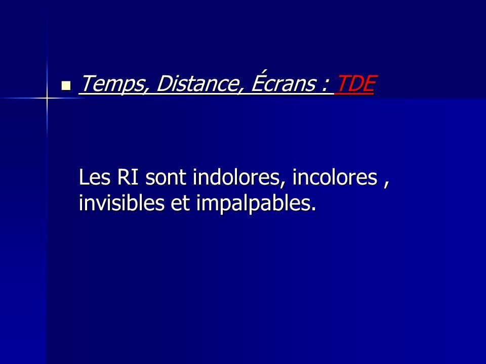 Temps, Distance, Écrans : TDE