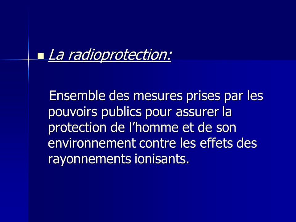 La radioprotection:
