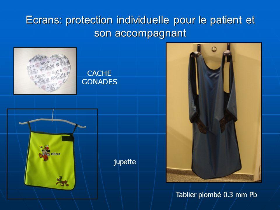 Ecrans: protection individuelle pour le patient et son accompagnant