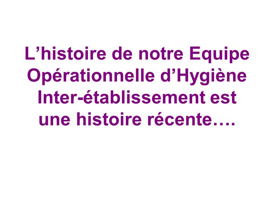 L'histoire de notre Equipe Opérationnelle d'Hygiène Inter-établissement est une histoire récente….