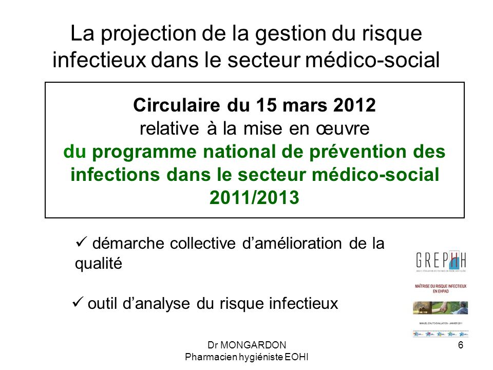 La projection de la gestion du risque infectieux dans le secteur médico-social