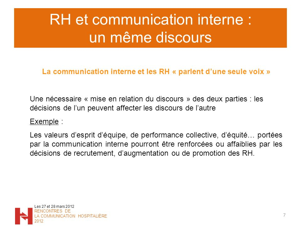 RH et communication interne : un même discours
