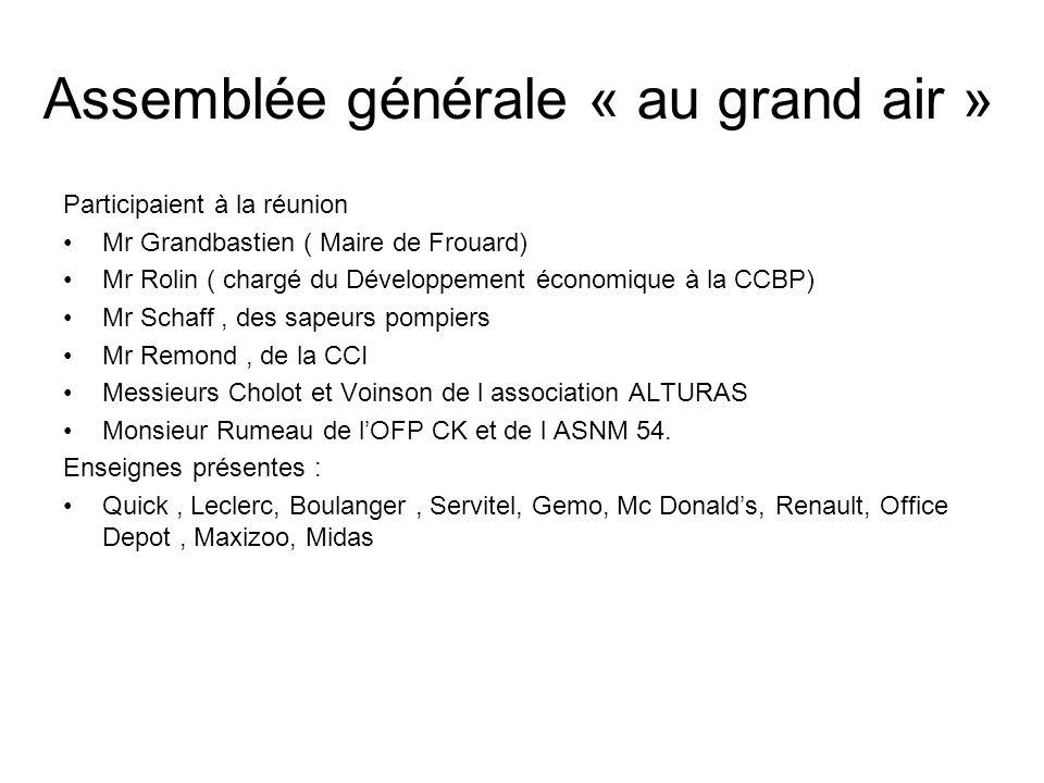 Assemblée générale « au grand air »