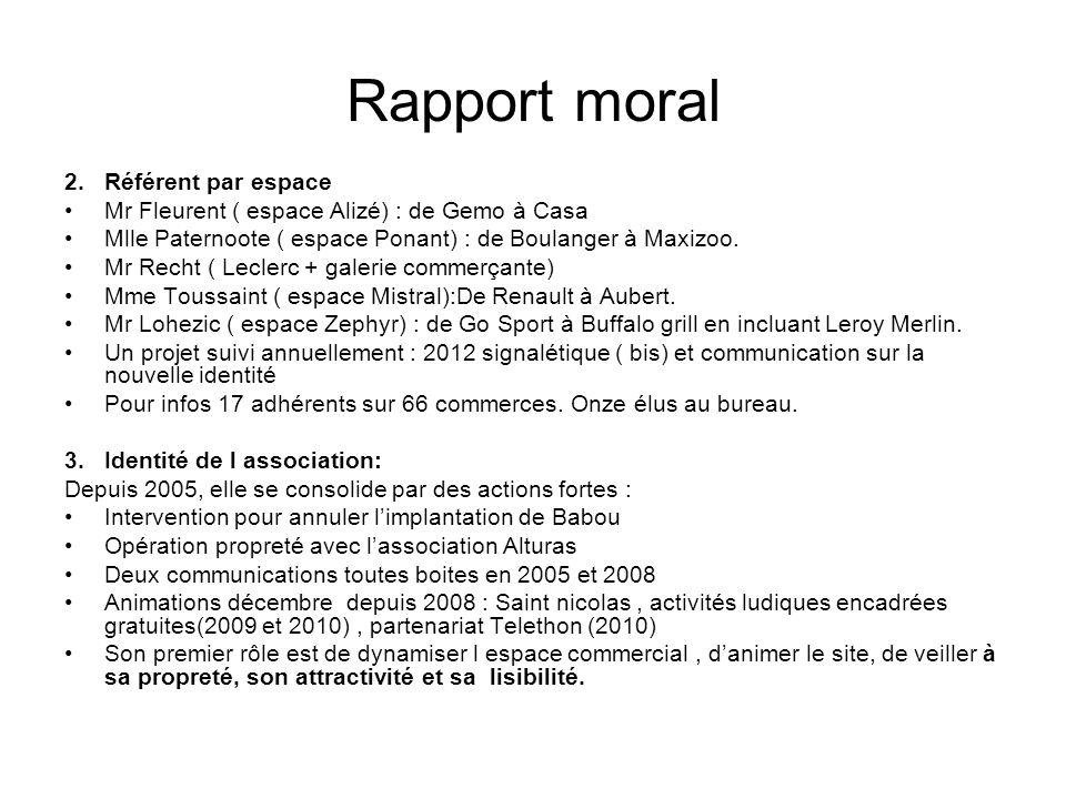 Rapport moral Référent par espace