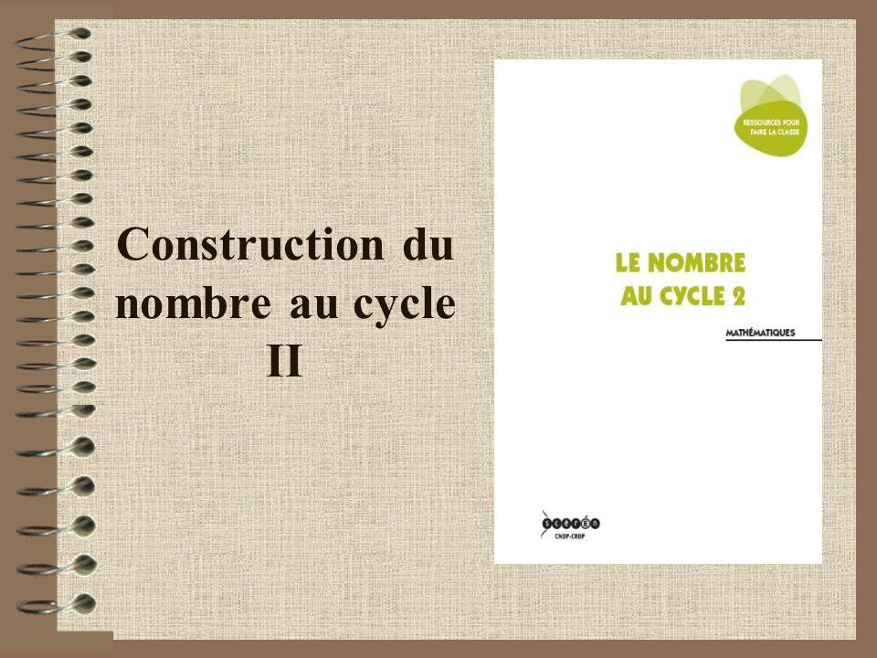 Construction du nombre au cycle II