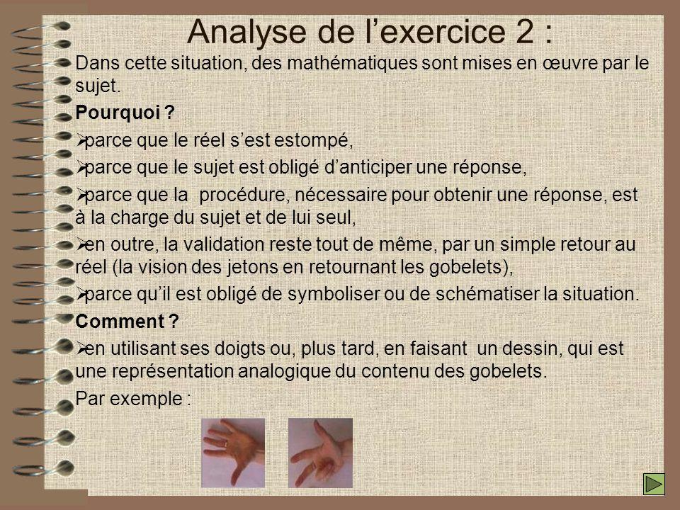 Analyse de l'exercice 2 :