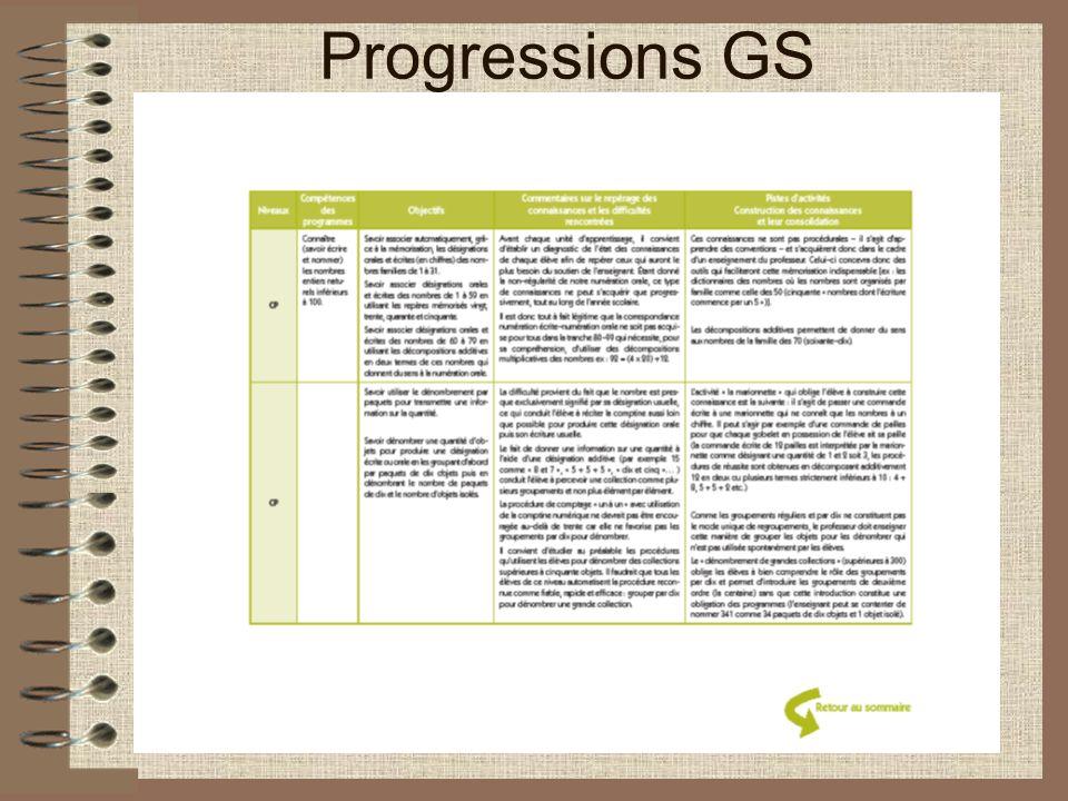 Progressions GS
