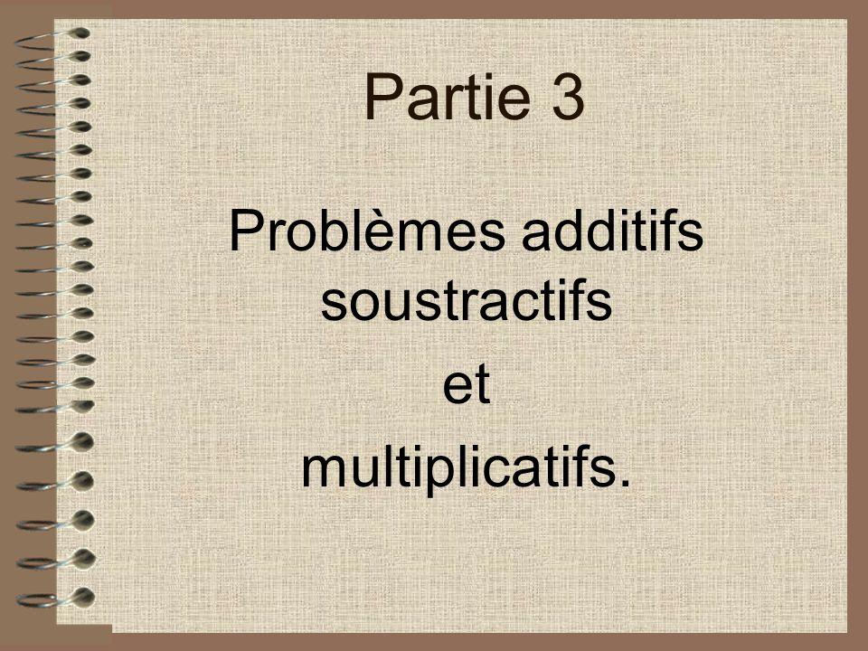 Problèmes additifs soustractifs et multiplicatifs.