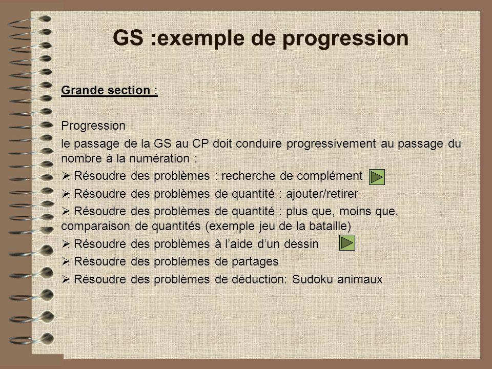 GS :exemple de progression