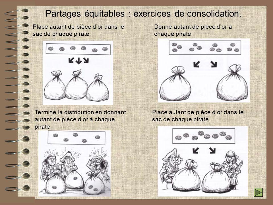 Partages équitables : exercices de consolidation.