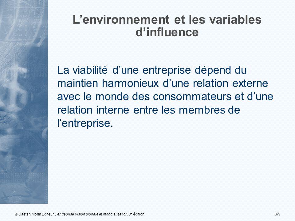L'environnement et les variables d'influence