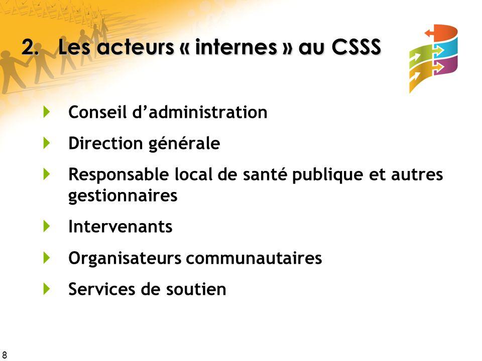 2. Les acteurs « internes » au CSSS