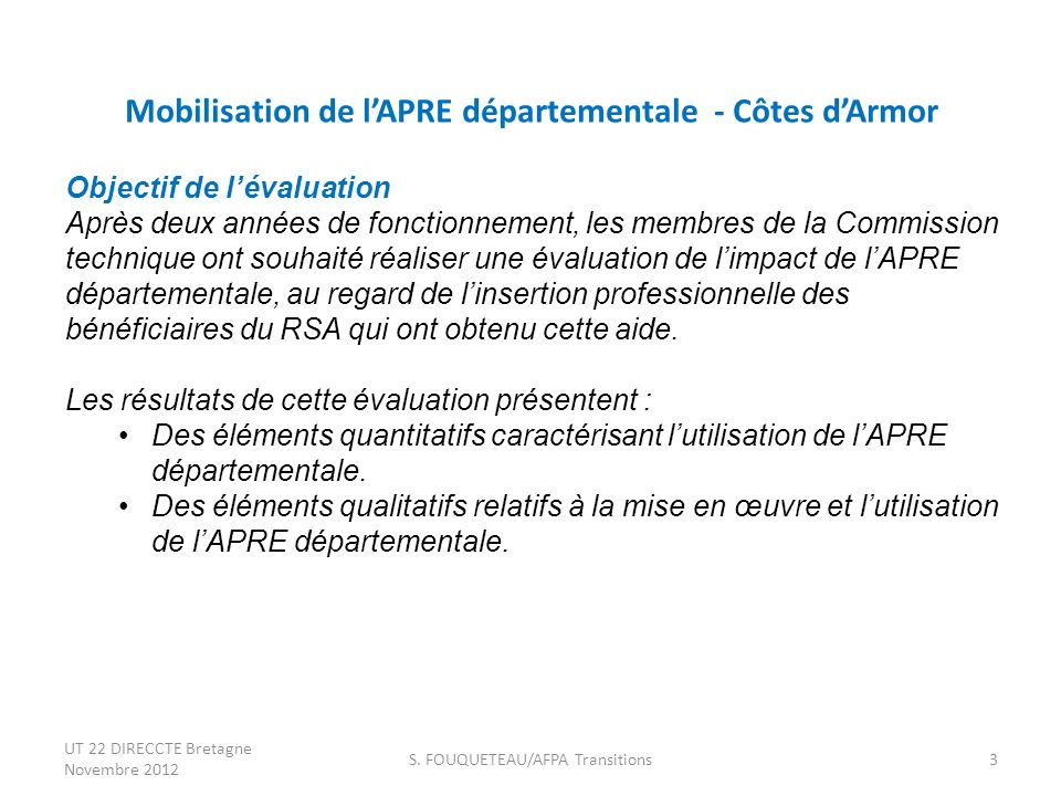 Mobilisation de l'APRE départementale - Côtes d'Armor