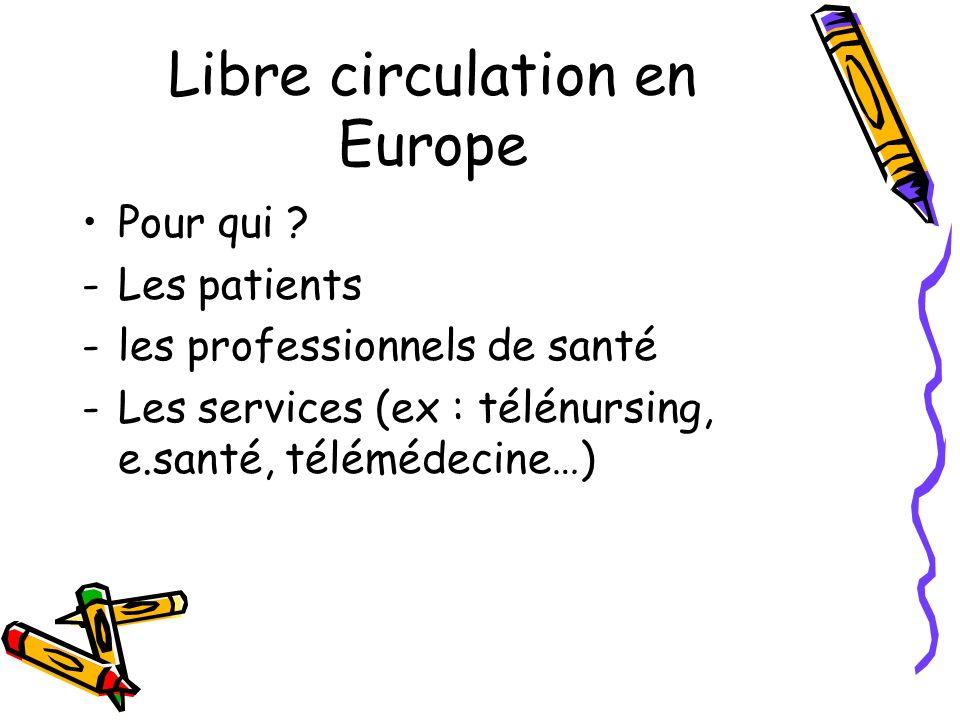 Libre circulation en Europe