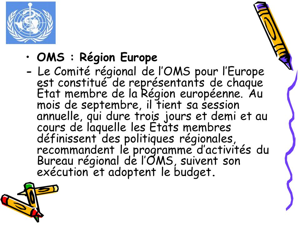 OMS : Région Europe
