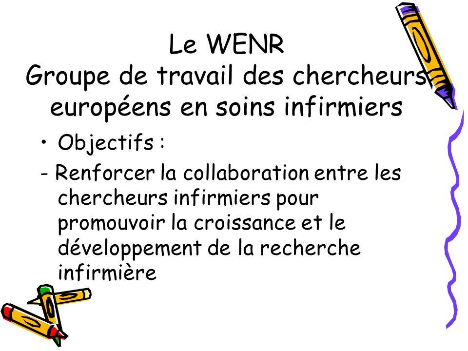 Le WENR Groupe de travail des chercheurs européens en soins infirmiers