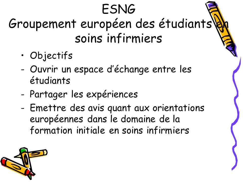 ESNG Groupement européen des étudiants en soins infirmiers