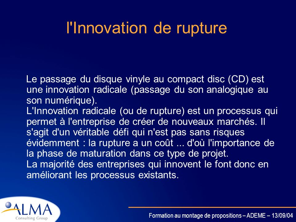 l Innovation de rupture