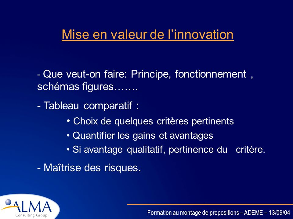 Mise en valeur de l'innovation