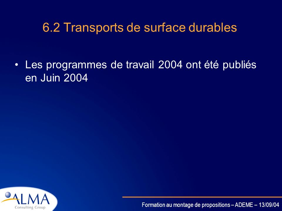 6.2 Transports de surface durables