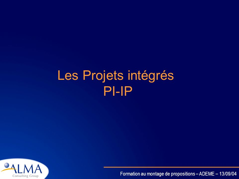 Les Projets intégrés PI-IP