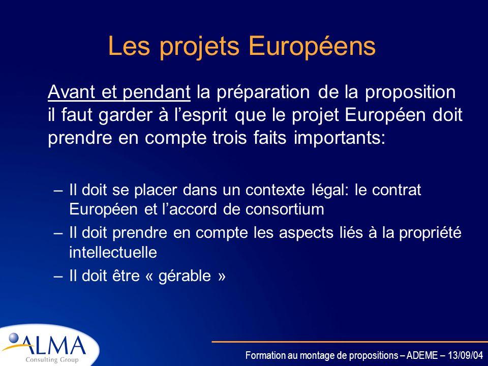 Les projets Européens