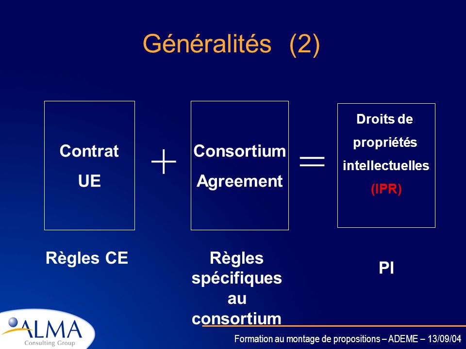 Règles spécifiques au consortium