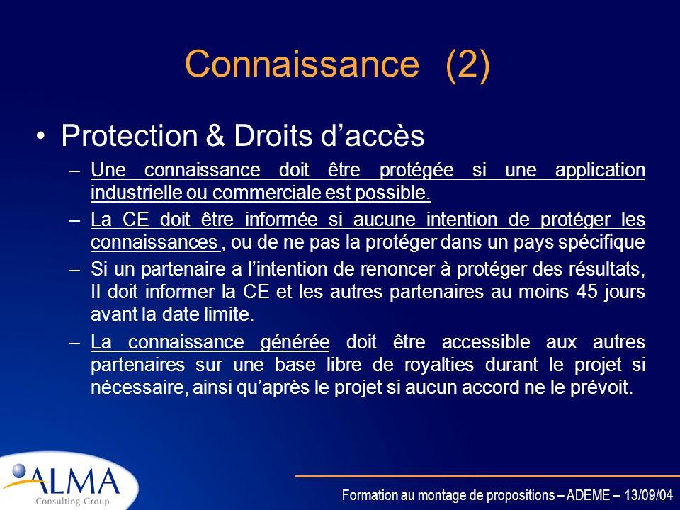 Connaissance (2) Protection & Droits d'accès