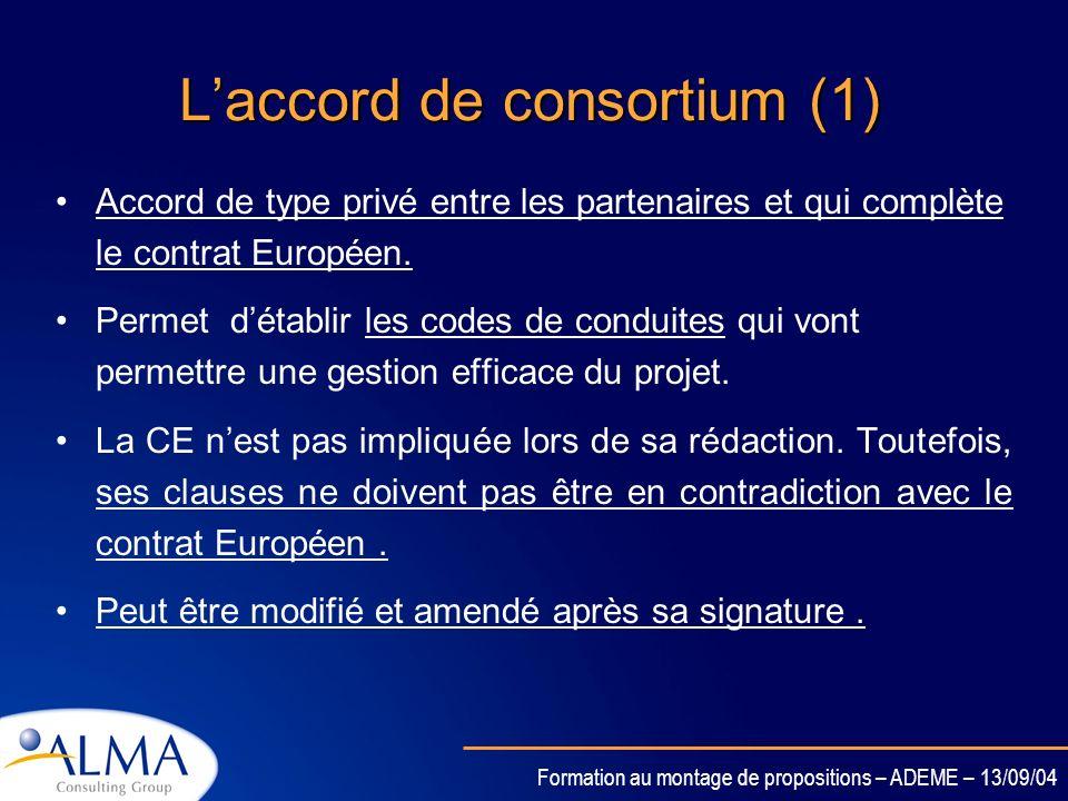 L'accord de consortium (1)