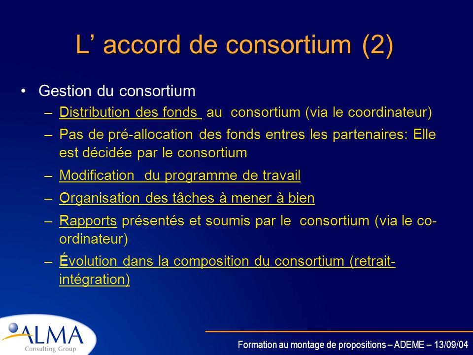 L' accord de consortium (2)